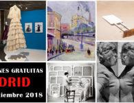 16 Interesantes exposiciones gratuitas en Madrid, de julio a septiembre de 2018