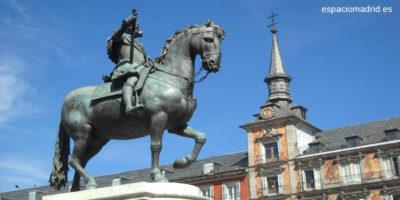 Felipe III a caballo. Plaza Mayor