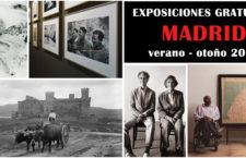 ¡Más exposiciones gratuitas en Madrid! Para disfrutar este verano-otoño 2018