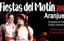 Fiestas del Motín de Aranjuez, del 30 de agosto al 2 de septiembre 2018