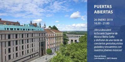 Jornada de puertas abiertas con conciertos y visitas guiadas a la Escuela Superior de Música Reina Sofía