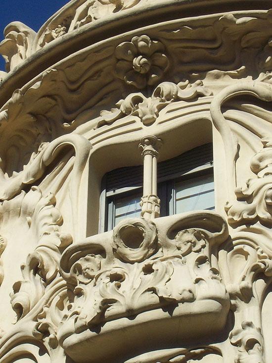 Detalles Palacio Longoria, actual