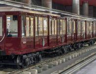 Exposición de trenes clásicos en la estación de Metro de Chamartín