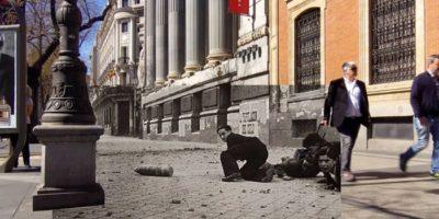 PASADO EN PARALELO: El Madrid de la Guerra Civil y el Madrid actual en una misma fotografía