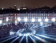 Espectacular Video Mapping sobre las fachadas de la Plaza Mayor de Madrid