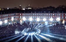 Espectacular Video Mapping sobre las fachadas de la Plaza Mayor de Madrid