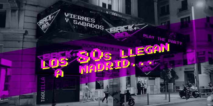 BACK TO THE 80'S, discoteca de éxitos de los años 80