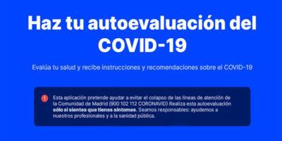 Madrid saca una web con la que hacer tu evaluación del coronavirus
