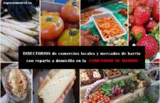 DIRECTORIOS de comercios locales y mercados de barrio con reparto a domicilio en la Comunidad de Madrid
