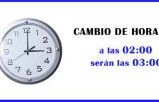 El 28 de marzo de 2021, se adelanta la hora por el cambio horario primavera-verano