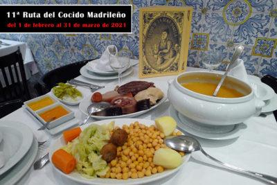 11ª Ruta del Cocido Madrileño, del 1 de febrero al 31 de marzo 2021